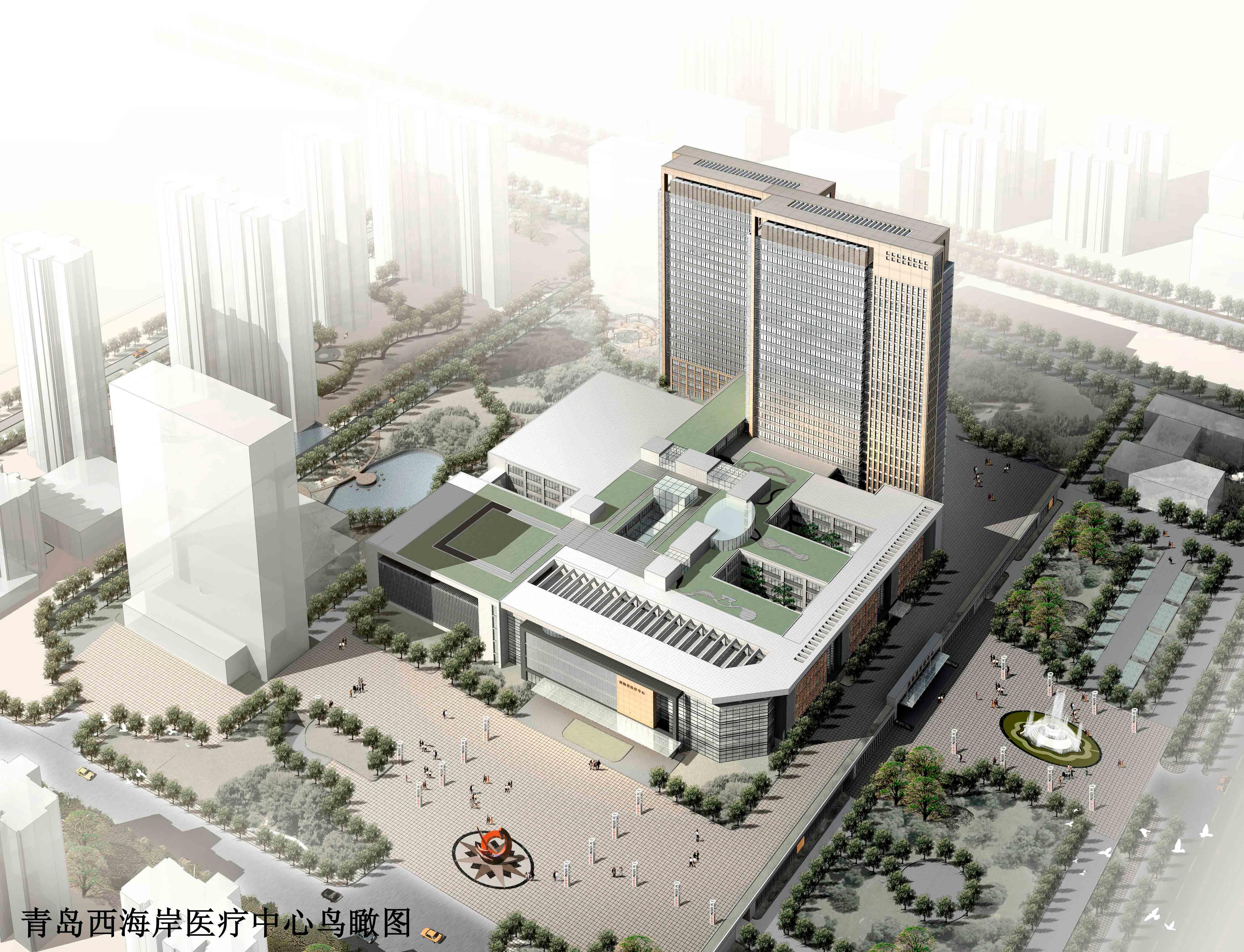 青岛西海岸医疗中心综合楼建筑电气设计简介